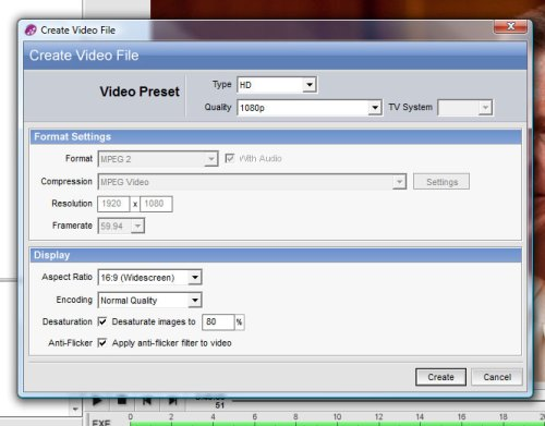 Create Video File in ProShow